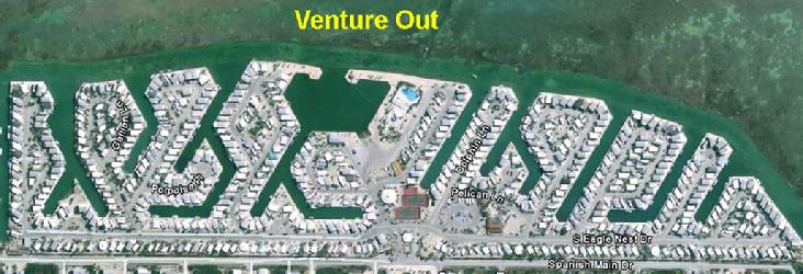 Air View of Venture out condominium park in cudjoe key florida